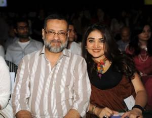 Amir Adnan with Huma Adnan at PFDC Fashion Week Karachi