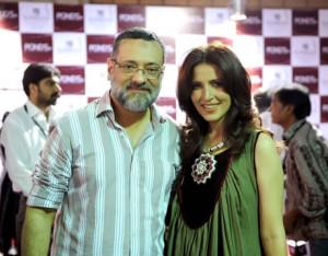 Amir Adnan with Neini Rafi at Red Carpet of PFDC Karachi