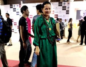 Andleeb Rana wearing Sania Maskatiya at PFDC Fashion Week 2012