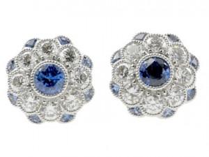 Blue Crystal Earring for Eid 2011