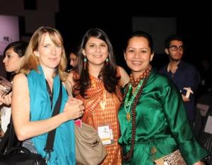 Eleanor Wason  Selina Rashid Khan with Andleeb Rana at PFDC Fashion Week Karachi