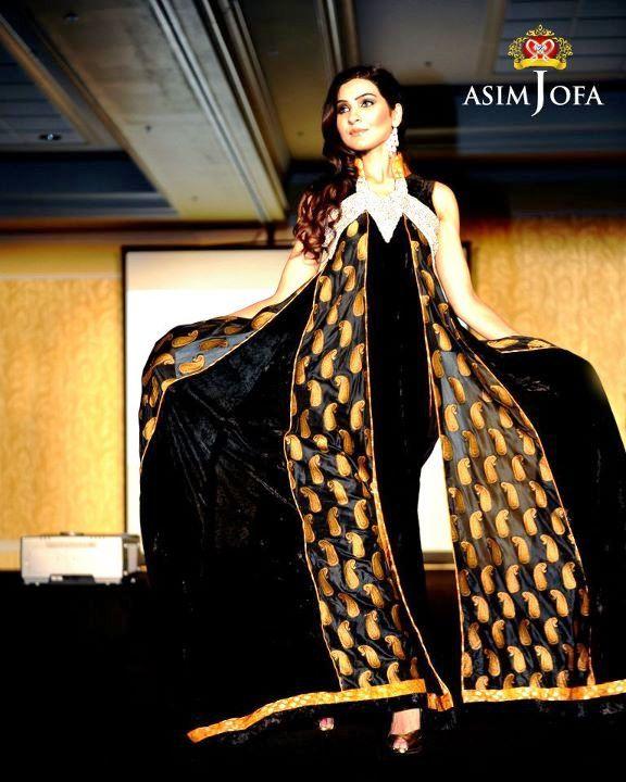 Asim jofa latest winter embroidered dress designs