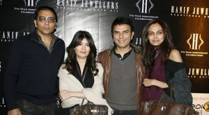 Ather, Shahzad, Mehreen Syed with Friend - Mission Impossible 4 Premier