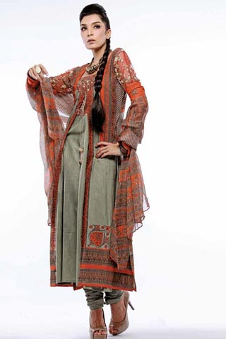 Churidaar Pajama with Double Shirt Gul Ahmed Collection
