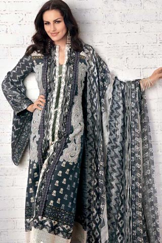 Cuts Neck Line By Gul Ahmed Winter Collection 2012