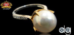 Diamind Ring for Girls with Pearl