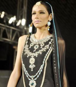 Fayeza Ansari in Nomi Ansari Dress - UAE 40th National Day Celebration