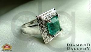 Green Diamond Ring for Formal Wear