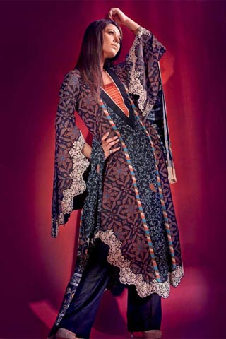 U Kurti with Lose Trouser by Gul Ahmed