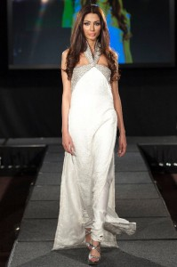 White Gown Designed Exclusively for Women