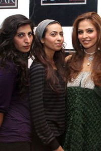 Xille gul with Models - Sonar Jewelers Studio Launch