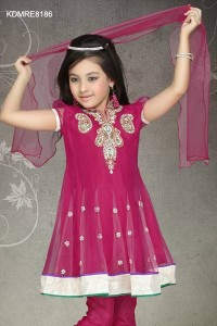 Attractive Magenta Anarkali Suit