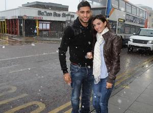 Amir Khan Boxer With Fiancee Faryal Makhdoom