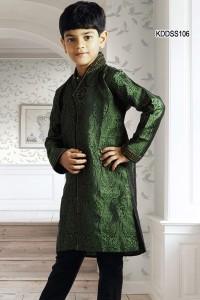 Green Jacquard Kurta Pyjama
