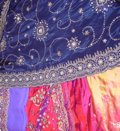 Saree embroidery designs fashion