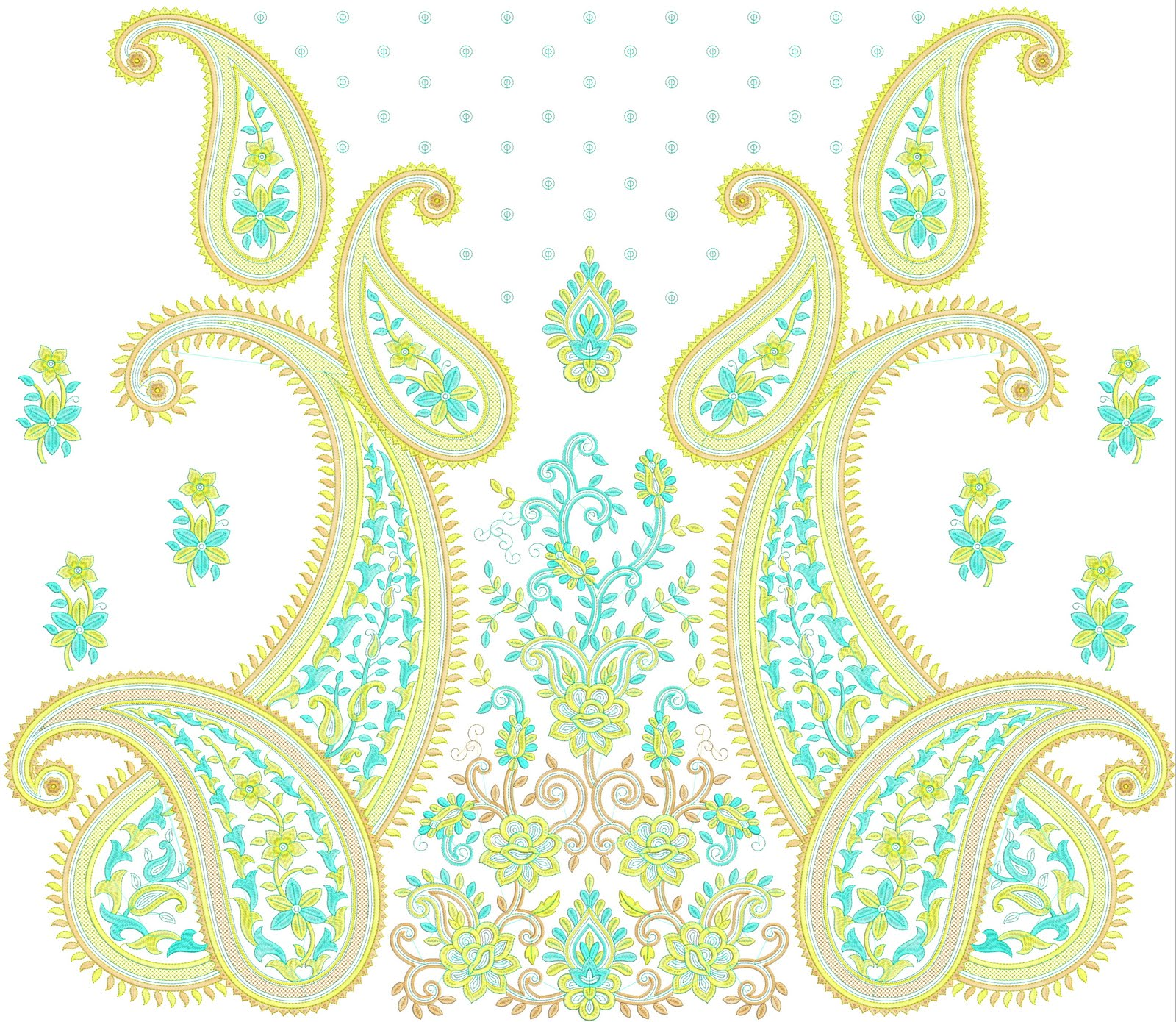 Paisley Hand Embroidery Designs