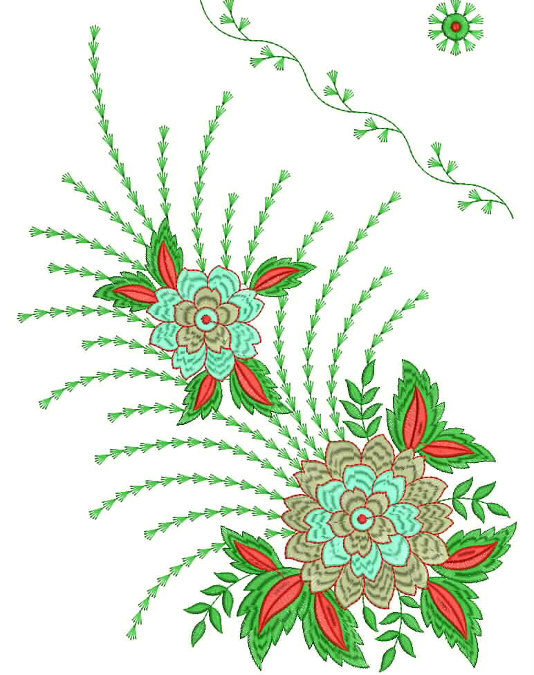 Pin saree embroidery designs indian fashion zimbio on Fashion embroidery designs