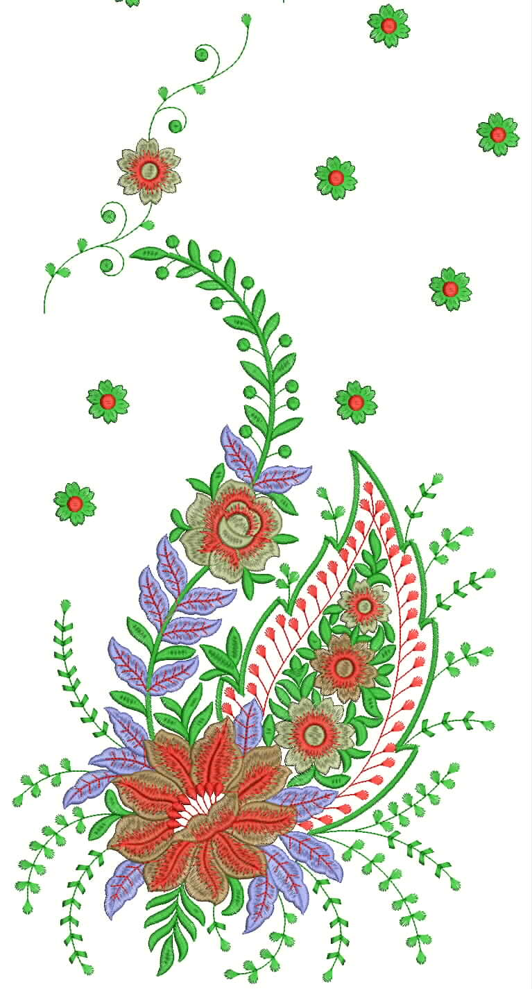 Hand Embroidery Saree Designs - Free Embroidery Patterns
