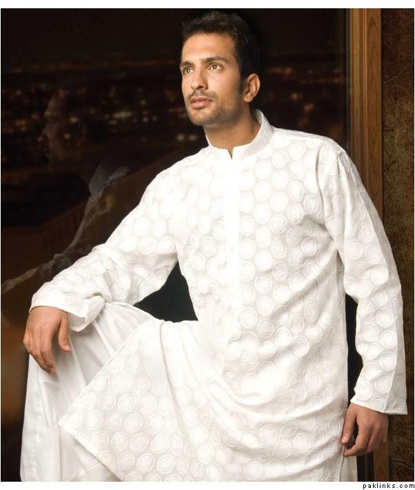 White Shalwar Men Shalwar Kameez For Men