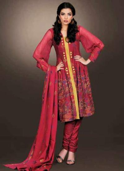 Bareeze Winter Dresses for Women 2012