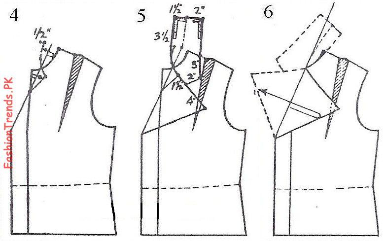 how to measure and cut a collar pattern