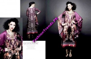 Vogue Silk Embroidered Lawn Summer 2012 by Five Star