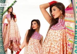 Al-Hamra Textiles Eid Lawn Dresses 2012