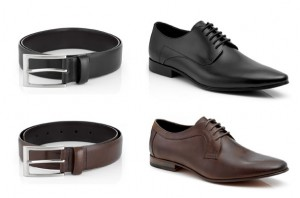 different colors of shoes and belts