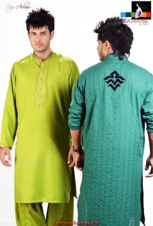 Latest Satrangi by Saqib Eid Collection 2012
