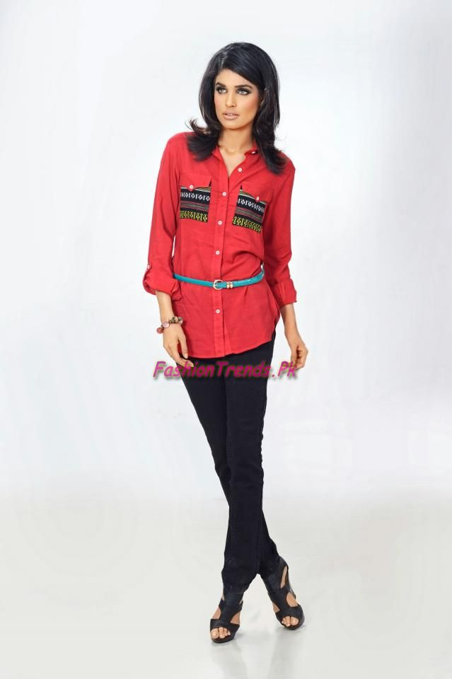 2012 latest casual wear dresses for girls by big fashion