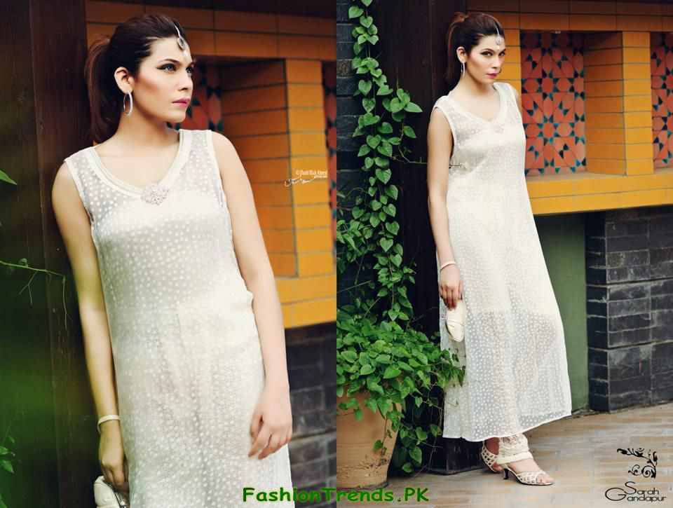 Sarah Gandapur Semi Formal Women Dresses 2012 Fashion 2017