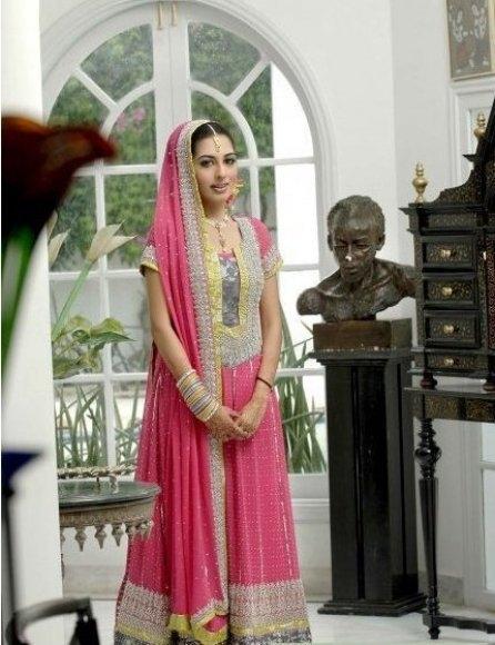Pink Bridal Dress Gives Decent