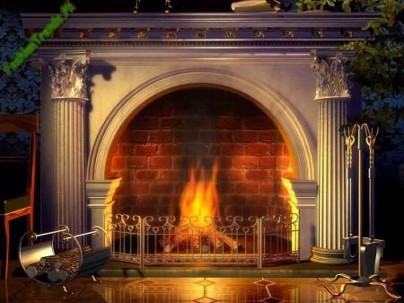 Decorated Fireplace by Darek Sokol