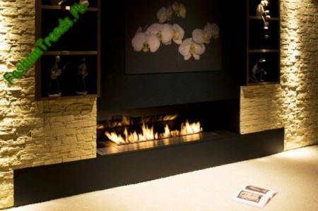 Electric Controlled Ethanol Fireplace Design