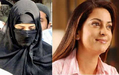 Indian Super star Juhi Chawla Visits Karachi Markets In Burqa 0 ...