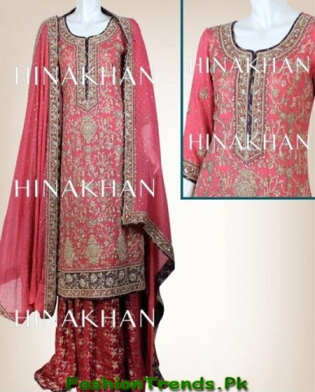 Hina Khan Bridal Dresses 2013