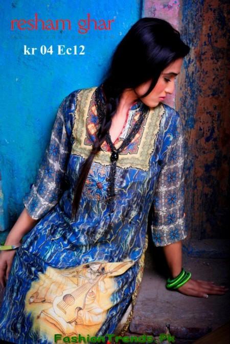 Resham Ghar Digital Kurti 2013