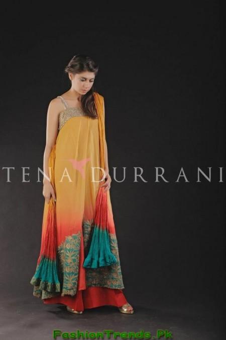 Tena Durrani Party Wear Dresses 2013