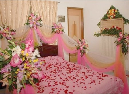 Best interior design house for Asian wedding bed decoration ideas