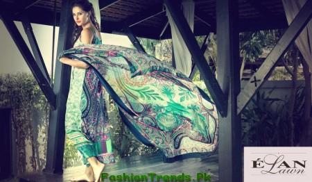 Elan Summer Lawn Dresses 2013