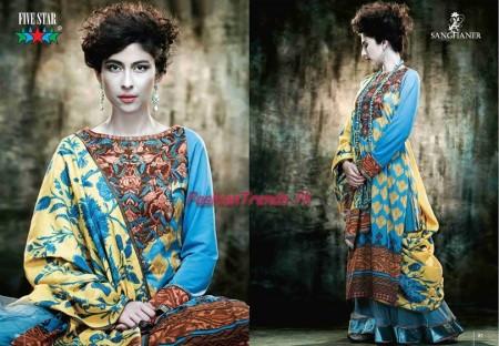 Five Star Textiles JJ Valaya Lawn 2013