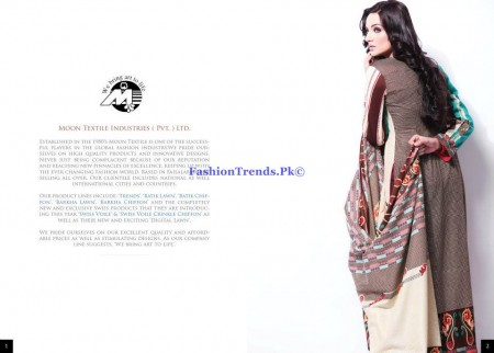 Moon Textiles Barkha Lawn 2013