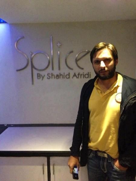 Shahid Afridi Splice Restaurant