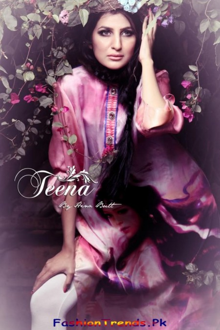 Teena By Hina Butt Digital Print Kurta 2013