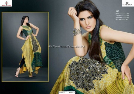 Ittehad Embroidered Swiss Voile 2013