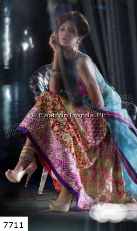 Natasha Couture Lehenga Sarees Collection 2013