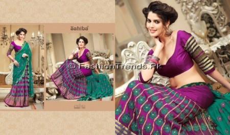 Zobi Fabrics Lehenga Sarees Collection 2013