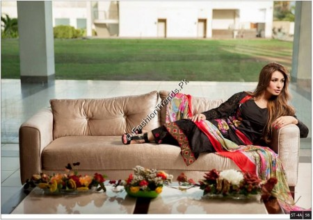 Deeba Embroidered Lawn Suits 2013