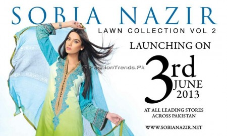 Sobia Nazir Lawn Collection 2013 Vol 2 (2)