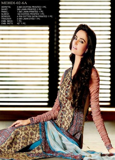 Jubilee Cloth Mills Mehdi Prints Eid Collection 2013